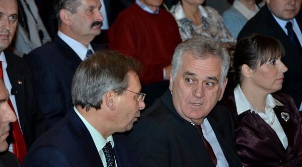 Maglai Jenő és Tomislav Nikolić (fotó: gradsubotica.co.rs)