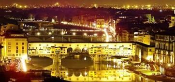 Új kivilágítást kapott a firenzei Ponte Vecchio, az Öreg Híd - A cikkhez tartozó kép