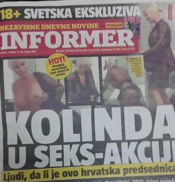 Botrány: Hamisak voltak a horvát elnök asszonyt ábrázoló szexi fotók az Informerben - A cikkhez tartozó kép