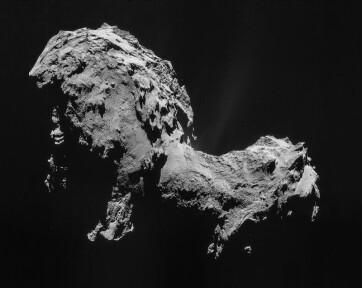 Szerves molekulák alkotják a Csurjumov-Geraszimenko üstökösből származó por felét - A cikkhez tartozó kép