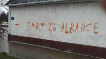 Mirović elítélte az albánokat fenyegető falfirkákat - A cikkhez tartozó kép
