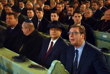Szabadka: Orbán Viktor és Aleksandar Vučić felavatta a felújított zsinagógát - A cikkhez tartozó kép