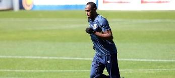 Labdarúgás: Usain Bolt először edzett új csapatával - illusztráció