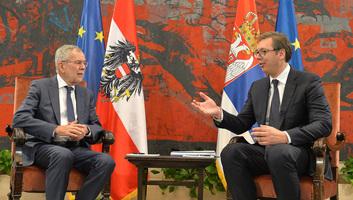 Az osztrák államfő Belgrádban - illusztráció