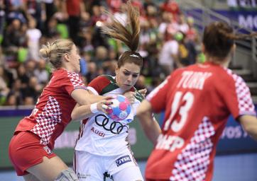 Női kézilabda Eb: Magabiztos magyar győzelem Horvátország ellen - A cikkhez tartozó kép