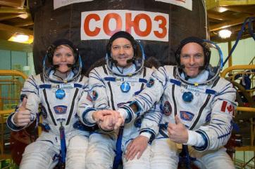 Három űrhajóssal a fedélzetén elindult az űrállomásra a Szojuz MSZ-11 űrhajó - A cikkhez tartozó kép