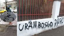 Magyarellenes felirat a bukaresti magyar tannyelvű Ady Endre Líceum kerítésén - illusztráció