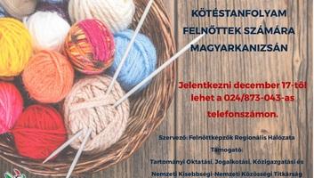 Magyarkanizsa: Tanuljunk meg kötni együtt! - illusztráció
