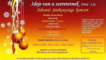 Ádventi jótékonysági koncertet tartanak Zentán - illusztráció