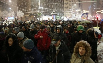 Napi fotó: Több ezren tiltakoztak ma az esti...