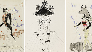 Yves Saint-Laurent rajzát árverezik Párizsban - illusztráció