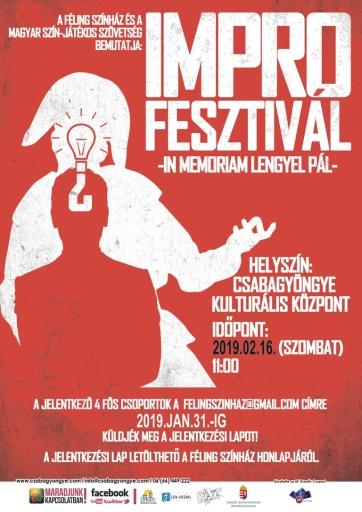 Felhívás a békéscsabai Impro Fesztiválon való részvételre - A cikkhez tartozó kép