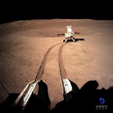 Felvételeket küldött a Hold nem látható oldaláról a Csang'o-4 kínai űrszonda - A cikkhez tartozó kép