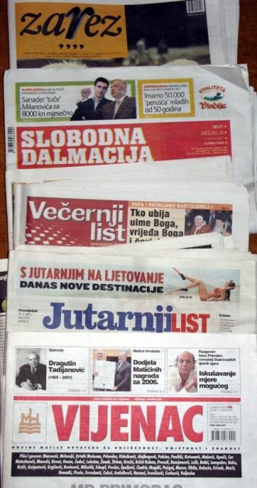 Több mint ezer bírósági eljárás folyik újságírók ellen Horvátországban - A cikkhez tartozó kép