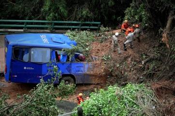 Két óra alatt annyi eső esett Rio de Janeiróban, mint máskor egy hónap alatt - A cikkhez tartozó kép