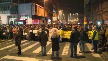 Ismét tüntettek Belgrádban - A cikkhez tartozó kép
