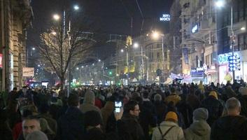 Ismét tüntettek Belgrádban és több városban - illusztráció