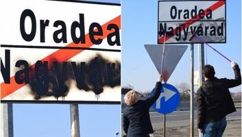 Lemázolták Nagyvárad bejáratánál a magyar feliratot - illusztráció