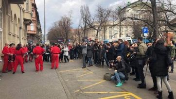 Újságírók tüntetnek Zágrábban a médiaszabadságért - A cikkhez tartozó kép
