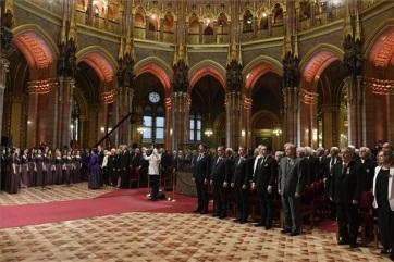Az Országházban átadták a Kossuth- és Széchenyi-díjakat, valamint a Magyar Érdemrendeket - A cikkhez tartozó kép