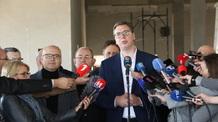 A szerb elnök az RTV épülő székházában: Határidő előtt elkészül az új épület - illusztráció