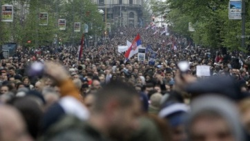 Belgrád: Véget ért az ellenzéki tüntetés, 6 napos határidő a követelések teljesítésére - A cikkhez tartozó kép