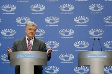 Ukrán elnökválasztás: Porosenko hiába várta Zelenszkijt az Olimpiai Stadionban - A cikkhez tartozó kép