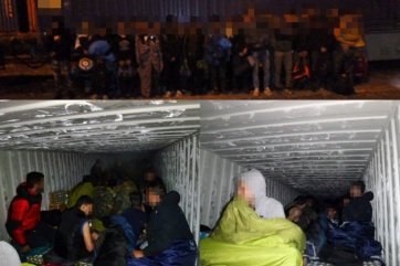 Huszonhét migránst találtak egy konténerben Kelebiánál - A cikkhez tartozó kép