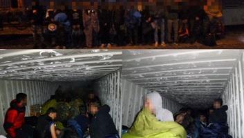 Huszonhét migránst találtak egy konténerben Kelebiánál - illusztráció