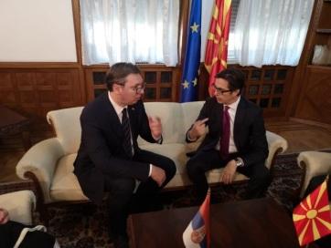 A két ország viszonyának erősítéséről tárgyalt Vučić és Pendarovszki - A cikkhez tartozó kép