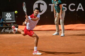 Tenisz: Đoković nyolcaddöntős Rómában - A cikkhez tartozó kép
