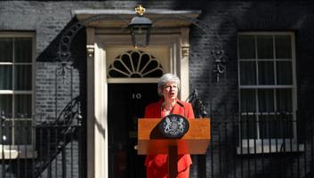Theresa May bejelentette lemondását - illusztráció