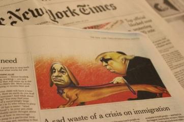 A The New York Times nemzetközi kiadása sem közöl többé politikai karikatúrát - A cikkhez tartozó kép