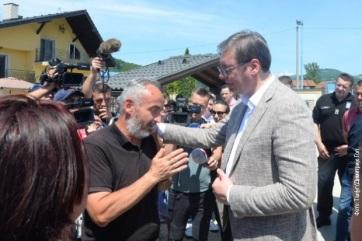 Vučić: Nagy munkán vagyunk túl, ötször védettebbek vagyunk az árvíztől - A cikkhez tartozó kép