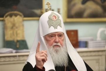 Ukrán ortodox egyház: Filaret pátriárkát megfosztották a kijevi egyházmegye irányításától - A cikkhez tartozó kép
