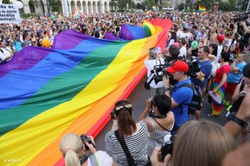 Több ezren vettek részt a 24. Budapest Pride felvonuláson - A cikkhez tartozó kép