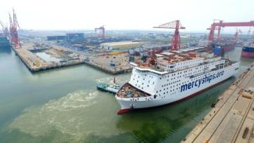 Útra kelt Kínából a világ legnagyobb polgári kórházhajója - A cikkhez tartozó kép