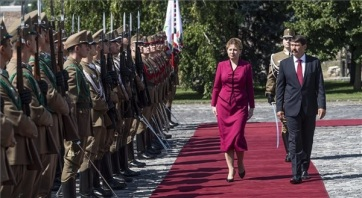Klímavédelmi, energetikai és migrációs kérdésekről egyeztetett a magyar és a szlovák államfő - A cikkhez tartozó kép