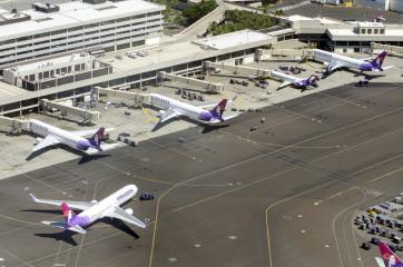 Kényszerleszállást hajtott végre egy utasszállító repülőgép Hawaiion - A cikkhez tartozó kép