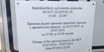 Sledeće nedelje granični prelaz Bački Vinogradi–Ašothalom otvoren do 10 uveče - A cikkhez tartozó kép