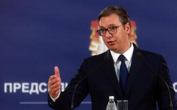 Politikai trükknek nevezte a koszovói kormányfő lemondását Aleksandar Vučić - A cikkhez tartozó kép