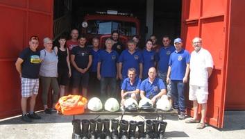 Muzslya: Ajándékot hoztak kollégáiknak a szlovéniai önkéntes tűzoltók - illusztráció