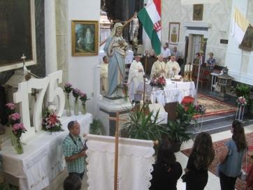 Magyarcsernye: Megünnepelték a Szent Ágota templom felszentelésének 175. évfordulóját - A cikkhez tartozó kép