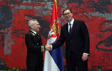 Aleksandar Vučić fogadta Oroszország új szerbiai nagykövetét - A cikkhez tartozó kép
