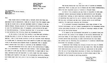 Az atombomba létrehozásához vezető levelet 80 éve írta alá Albert Einstein - A cikkhez tartozó kép