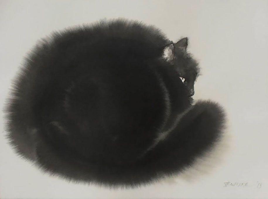 Penovác Endre akvarellje