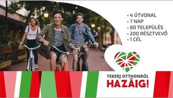 Tekerj otthonról hazáig!: Négy határon túli településről érkeznek kerékpáros túrázók Budapestre - illusztráció