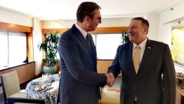 Vučić és Pompeo a koszovói helyzetről - A cikkhez tartozó kép