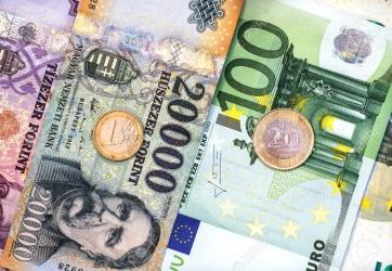 Idei mélypontjára gyengült a forint az euróval szemben - A cikkhez tartozó kép