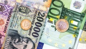 Idei mélypontjára gyengült a forint az euróval szemben - illusztráció